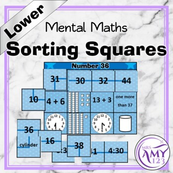 Mental Math Sorting Squares - Lower by Mrs Amy123 | TpT