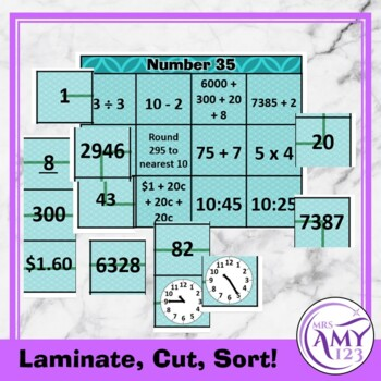 Mental Math Sorting Squares - Middle by Mrs Amy123 | TpT