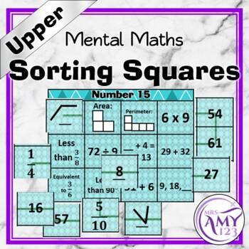 Mental Math Sorting Squares - Upper