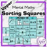 Mental Maths Sorting Squares - Upper