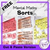 Mental Math Sorts Sample