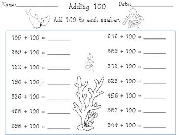 Mental Math Strategies- Adding Hundreds