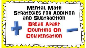 Mental Math Strategies Anchor Chart