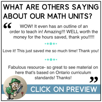 Mental Math Strategies - Complete Unit (lessons, activities, assessment) Grade 6
