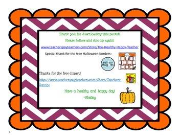Mental Math Strategies Halloween Center 1.OA.6  2.OA.B.2
