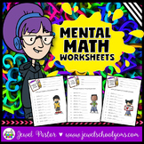 Mental Math Activities (Mental Math Worksheets)
