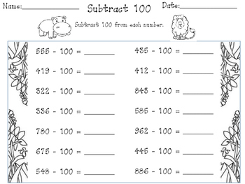 Mental Math Strategies-Subtracting tens and hundreds