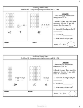 Mental Math Strategies Warm-ups / Exit Slips (Addition) with Manipulatives