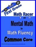 First Grade Mental Math Strategies Tests: Add & Subtract f