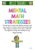 Mental Math Strategies for Addition