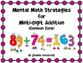 Mental Math Strategies for Multi-Digit Addition