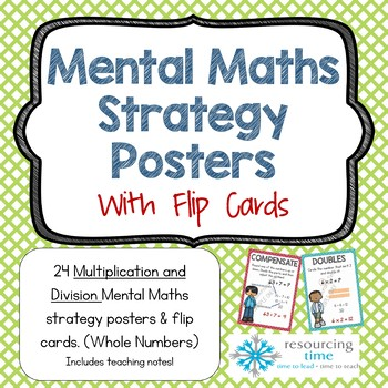 Mental Math Strategy Posters Multiplication and Division