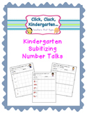 Mental Math Subitizing Number Talks for Kindergarten Recording Sheets