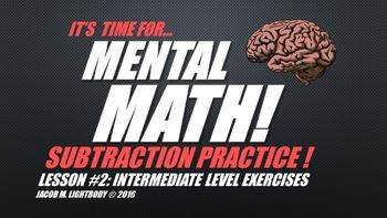 Mental Math: Subtraction