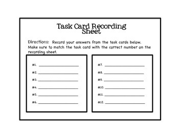 Mental Math Task Cards