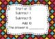 Mental Math Task Cards - 3 Step Addition and Subtraction -