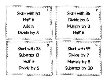 Mental Math Task Cards (FREE!)