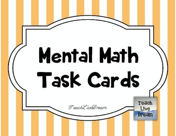 Mental Math Task Cards (FREE!)