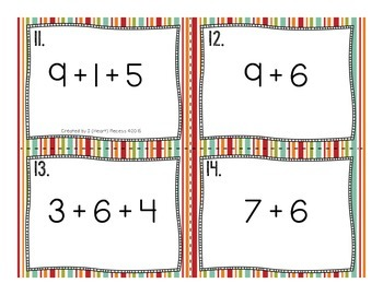 Mental Math Task Cards {Making Tens}