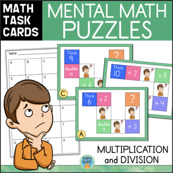 Mental Math Task Cards Multiplication And Division By Fishyrobb