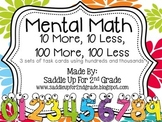 Mental Math Task Cards: Practice with 3 and 4 Digit Numbers