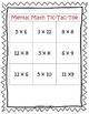 Mental Math Tic-Tac-Toe Multiplication & Division Games