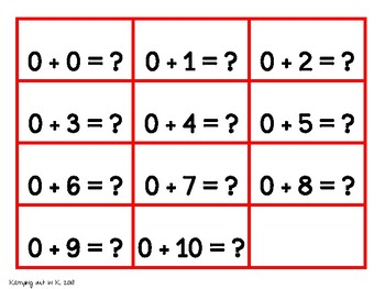 Mental Math Toolkit ~ Addition within 10