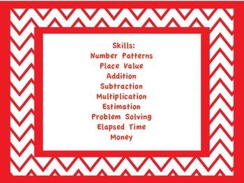 Mental Math Warm-up Cards Fourth Grade
