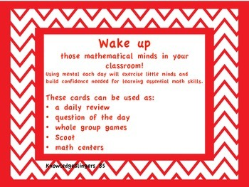 Mental Math Warm-up Cards Fourth Grade