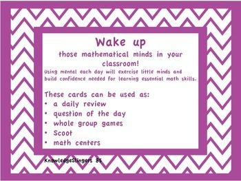 Mental Math Warm-up Cards Third Grade