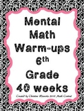 Mental Math Warm-ups 6th Grade