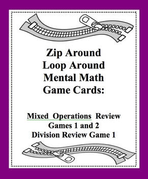 Mental Math Zip Around Loop Around Mixed Review Game Mixed Operations