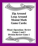 Mental Math Zip Around Loop Around Mixed Review Game Mixed