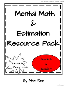 Mental Math and Estimation Math in Focus aligned Resource Pack