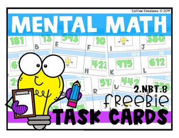Mental Math MOO-vement! {CCS:  2.NBT.8} FREEBIE!