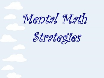 Mental Math for Middle School