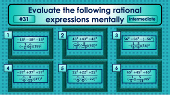 Mental Math: Arithmetic Rational Expressions with Signed Numbers