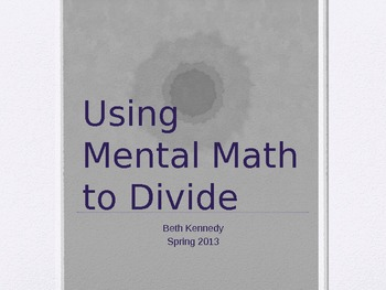 Mental Math to Divide