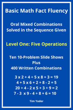 Basic Math Fact Fluency with Mixed Combinations - Level One with Five Operations