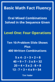 Basic Math Fact Fluency with Mixed Combinations - Level One with Four Operations