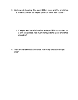 Mental Math worksheet, adding and subtracting 2- and 3-digit numbers