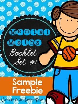 Mental Maths Booklet 1 - SAMPLE FREEBIE