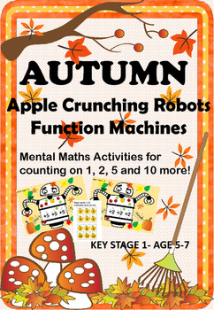 Mental Maths Counting On with an Apple Crunching Robot Fun