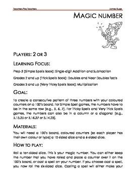 Mental Maths Games: Magic Number