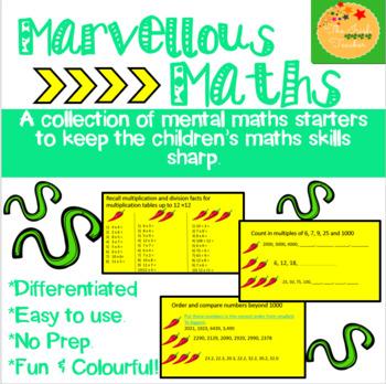 Mental Maths Starters