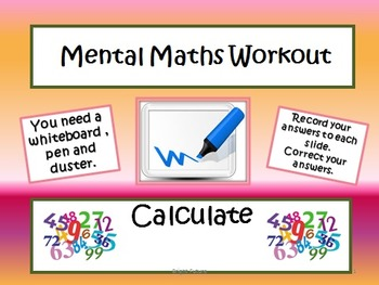 Mental Maths Workout- Starters and Plenaries