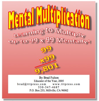 Mental Multiplication: Learn to Multiply Up to 99x99 in Yo