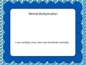 Mental Multiplication Power Point