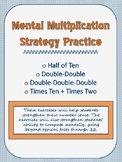 Mental Multiplication Strategies for Facts Beyond x12