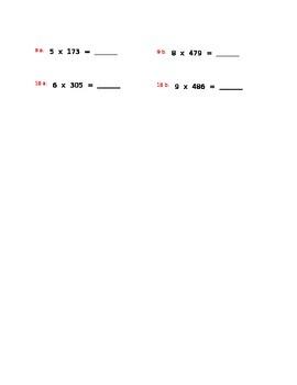 Mental Multiplication for 4th Grade